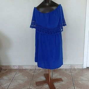 3 for 25 Plus size Strapless blue dress